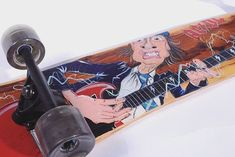 It's a long way to the top if you wanna Rock'n Roll! Angus Young, Woodworking Resin, Rockn Roll, Epoxy, Skateboard, Lamps, Boards, Friends, Instagram
