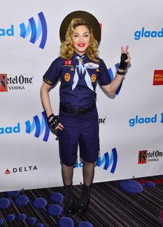 You've Got to See This: Madonna Showed Up to the GLAAD Awards Dressed as a Boy Scout