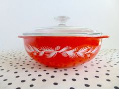Vintage 1960 Pyrex Holiday Pinecone by ForestHillsVintage on Etsy, $40.00