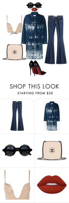 """Untitled #64"" by j-art-clarise ❤ liked on Polyvore featuring dVb Victoria Beckham, STELLA McCARTNEY, Chanel, Wonderbra, Lime Crime and Christian Louboutin"