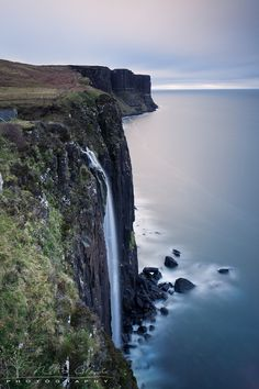 Kilt Rock Waterfall, Isle of Skye    The Kilt Rock Waterfall drops dramatically to the sea down the sheer face of the cliffs on the Trotternish Peninsula, Isle of Skye