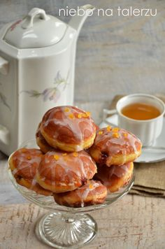 Eggs in a lawyer's nest - Healthy Food Mom Best Donut Recipe, Donut Recipes, Gourmet Recipes, Cake Recipes, Dessert Recipes, Cooking Recipes, Polish Desserts, Polish Recipes, Exotic Food