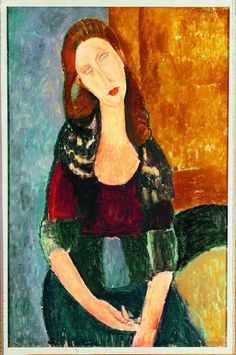 Amedeo Modigliani Portrait of Jeanne Hebuterne painting is shipped worldwide,including stretched canvas and framed art.This Amedeo Modigliani Portrait of Jeanne Hebuterne painting is available at custom size. Amedeo Modigliani, Modigliani Paintings, Italian Painters, Italian Artist, Rembrandt, Famous Artists, Figurative Art, Oeuvre D'art, Art Images