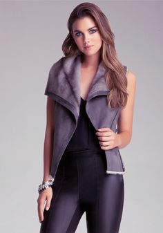 bebe | Faux Fur Vest - Clothing - View All