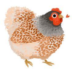 Chicken Drawing, Chicken Painting, Chicken Art, Art And Illustration, Chicken Illustration, Huhn Tattoo, Cartoon Chicken, Cute Chickens, Illustrator