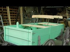 This is building seats & light forging on the Piedmont, one-horse wagon. Coach Shop, Horse Wagon, Wooden Wagon, Shops, Wagon Wheel, Horse Drawn, Sled, Restoration, Youtube