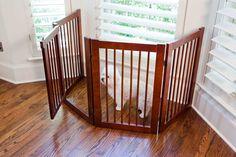 Primetime Petz 33232 Z, Fold Configurable Gate Dog Gate With Door, Indoor Dog Fence, Stow Away, Pet Gate, Cribs, Pet Supplies, Doors, Luxury, Pets