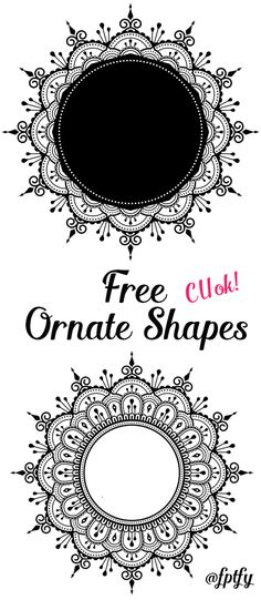 Free Ornate Frames - Pretty! - Free Pretty Things For You