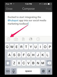 If you're using Hubspot, are you using the mobile app to publish social media content?   This step by step guide will walk you through using the Hubspot app for your social media marketing