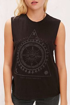 Truly Madly Deeply Eye Of Fortune Muscle Tee - Urban Outfitters