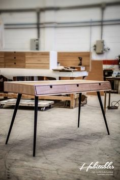 Office desk design by Manuel Barrera, a Madrid, Spain based furniture and industrial designer.