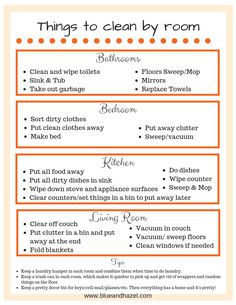 House cleaning schedule for the overwhelmed mom printable. room by room cleaning checklist printable. Daily house cleaning schedule for desperate overwhelmed moms! Includes printable daily checklist and room by room checklist. You need these tips! Home Cleaning Schedule Printable, Weekly House Cleaning, House Cleaning Checklist, Clean House Schedule, Daily Checklist, Chore Checklist, Cleaning Calendar, Tips And Tricks, Deep Cleaning Tips