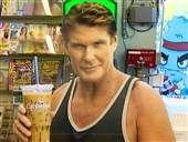 I WANT ONE! Fans hassling the Hoff by stealing life-size cutouts of actor David Hasselhoff