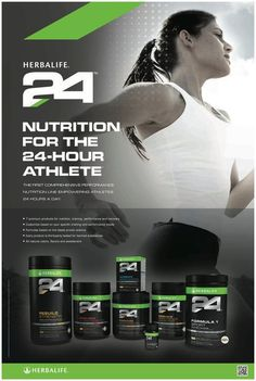 Nutrition for the 24-hour athlete. Fitness and Performance made EASY! World's TOP ATHLETES love HERBALIFE 24! Order your H24 personalized Sports Nutrition NOW, ask me how to get you started: m.schmidt517@gmail.com