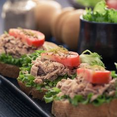 Open-Faced Tuna Sandwiches with Quick-Pickled Shallots