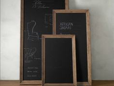 """pick up an inexpensive floor-standing mirror from your local home improvement store. To give your frame the """"vintage treatment,"""" use this tutorial to weather the wood. Then get your hands on a gallon of chalkboard paint like RustOleum's Chalk Board, which comes in both black and green."""