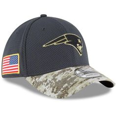 New Era New England Patriots NFL16 Sideline Salute To Service Performance 39THIRTY  Flex Fit Hat e81716408