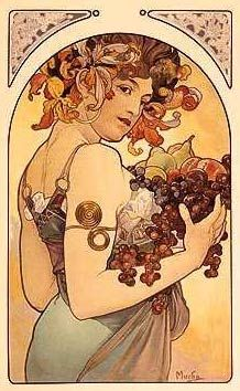Fruit--Alphonse Mucha