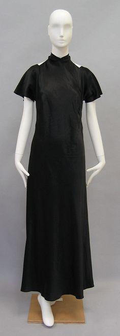 Evening dress, Madeleine Vionnet. Silk, ca. 1936.  Length at CB: 55in.