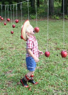 "Alternative to ""bobbing for apples"" Another great Idea to include both kids and . Alternative to ""bobbing for apples"" Another great Idea to include both kids and adults at a party! Fall Festival Games, Fall Games, Fall Festivals, Harvest Festival Games, Fall Carnival Games, Fall Party Games, Fall Festival School, Fall Festival Activities, Fall Festival Crafts"