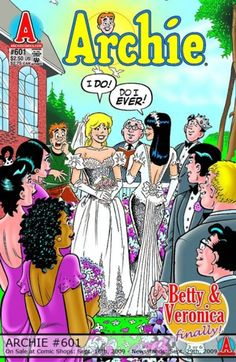 Archie Comics, Betty and Veronica Get Married, Sept. Archie Comic Books, Vintage Comic Books, Comic Book Characters, Vintage Comics, Comic Book Wedding, Wedding Book, Diy Wedding, Wedding Dress, Bill Ward