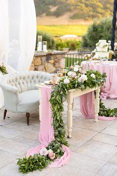 Photography: Vero Suh Photography - verosuh.com Read More on SMP: http://www.stylemepretty.com/california-weddings/2016/09/15/blush-gold-winery-wedding/