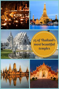 Thailand's most beautiful temples. A land filled with rich history and culture. Imagine walking through the doors of these temples...they will take your breath away. http://matadornetwork.com/bnt/25-thailands-beautiful-temples/