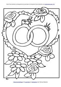 Kleurplaten Trouwen.74 Beste Afbeeldingen Van Kleurplaten Bruiloft Coloring Book
