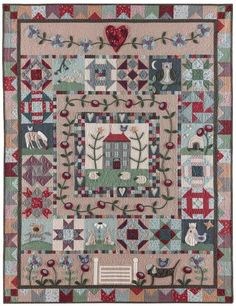 """TQS Zoom Quilt: BOM 2015 - """"My Country House"""" by Lynette Anderson"""