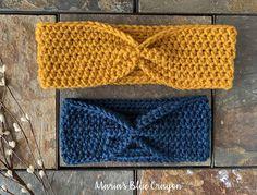 Simple Crochet Ear Warmer Free Pattern for Beginners - Maria's Blue Crayon Easy Beginner Crochet Patterns, Crochet For Beginners, Easy Crochet, Free Crochet, Knitting Patterns, Knitting Tutorials, Crochet Granny, Loom Knitting, Free Knitting