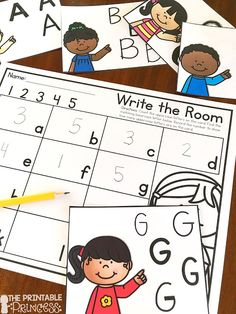 Incorporate math and literacy with this fun twist on Write the Room! Students count the uppercase letters on the card, find the matching lowercase letter on their paper and record the number of uppercase letters. (Include lowercase versions too!)