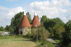 Oast House at Bowley Farm, Lenham Heath, Kent, England