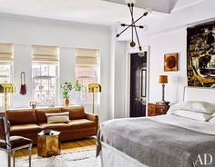 Bedroom by Nate Berkus and Jeremiah Brent in New York, NY | Modern Sofas. Living Room Inspiration. Bedroom Ideas. Bedroom sofa. #modernsofas #bedroomsofa