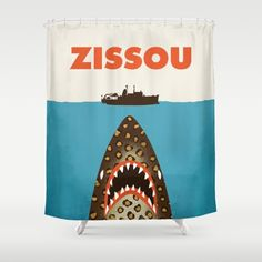 Zissou Shower Curtain  For Live Guild @ Kinney Ave (The Life Aquatic)