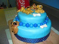 Fondant dog cake idea