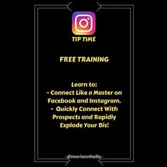 Tip time: FREE training TODAY!!  3 PM EST.  More information in the Networking Success Tips FB-community   Want to learn more about building your business online? JOIN the Networking Success Tips FB-community! I would love to welcome you in there!   @mariannhelle  - LINK IN BIO! ----------------------------------