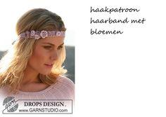 Haakpatroon haarband met bloemen voor een mooie zomerse dag. Vind je het…