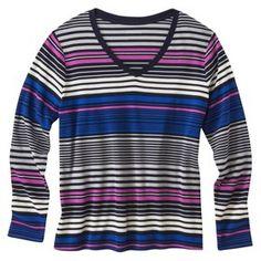 Merona® Women's Plus-Size Long-Sleeve Basic Tee - Assorted Colors
