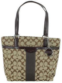 ed458675a4 Coach Signature Print Women s Tote Handbag Bag 28504