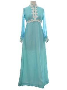 1970's Womens Hippie Dress