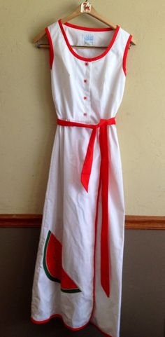 60's Vintage Park East by Swirl Women's Watermelon Dress Size Small on Etsy, £33.36