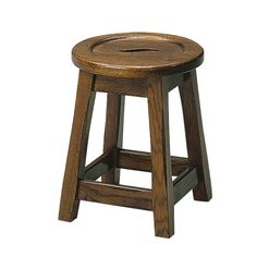 Country oak low bar stool (Unupholstered)  - Country oak low stool - Supplied lightly distressed in a medium oak stain finish as standard.  - Any stain or fabric option available    Height: 455 | Width: 380