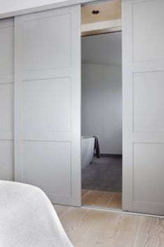 built in wardrobe doors for small room Sliding Wardrobe Doors, Sliding Barn Door Hardware, Cavity Sliding Doors, Sliding Bathroom Doors, Modern Closet Doors, Modern Sliding Doors, Sliding Wall, Built In Robes, Fitted Wardrobes