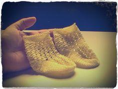 Margarita Knitting: Calcetines para bebés de 0 a 3 meses a crochet