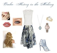 """""""Oralee - History in the Making"""" by torib795 ❤ liked on Polyvore featuring Chicwish, Alexander Wang, Steve Madden, Armenta, Allurez, Rolex and Lime Crime"""