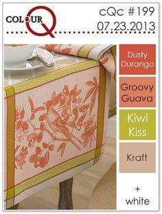 wee inklings: ColourQ199. Dusty Durango, Groovy Guava, Kiwi Kiss, Kraft