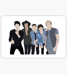 One Direction Four Album Cover Sticker Pegatina One Direction Albums, One Direction Fan Art, One Direction Drawings, One Direction Wallpaper, One Direction Videos, One Direction Pictures, Printable Stickers, Cute Stickers, Desenhos One Direction