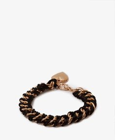 Heart Locket Woven Chain Bracelet | FOREVER21 -