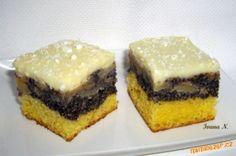 Makové řezy s jablky :: Táňulčino tvoření Dessert Recipes, Desserts, Cheesecake, Muffin, Breakfast, Food, Tailgate Desserts, Morning Coffee, Deserts