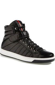 Main Image - Prada 'Avenue' High Top Sneaker (Men)